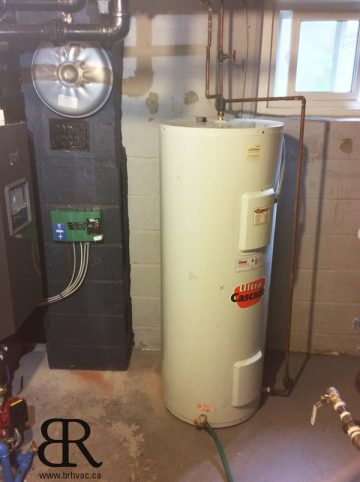 Existing electric water heater, but now we have gas.