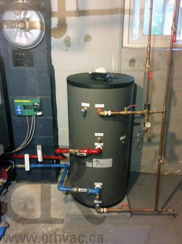Indirect Water Heater by NTI made in Canada.