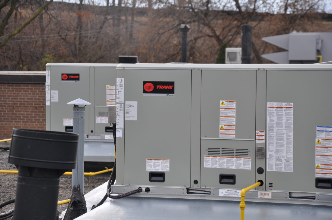 TRANE rooftop unit install