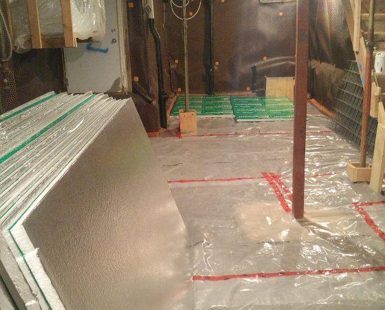 Basement Floor Heating.